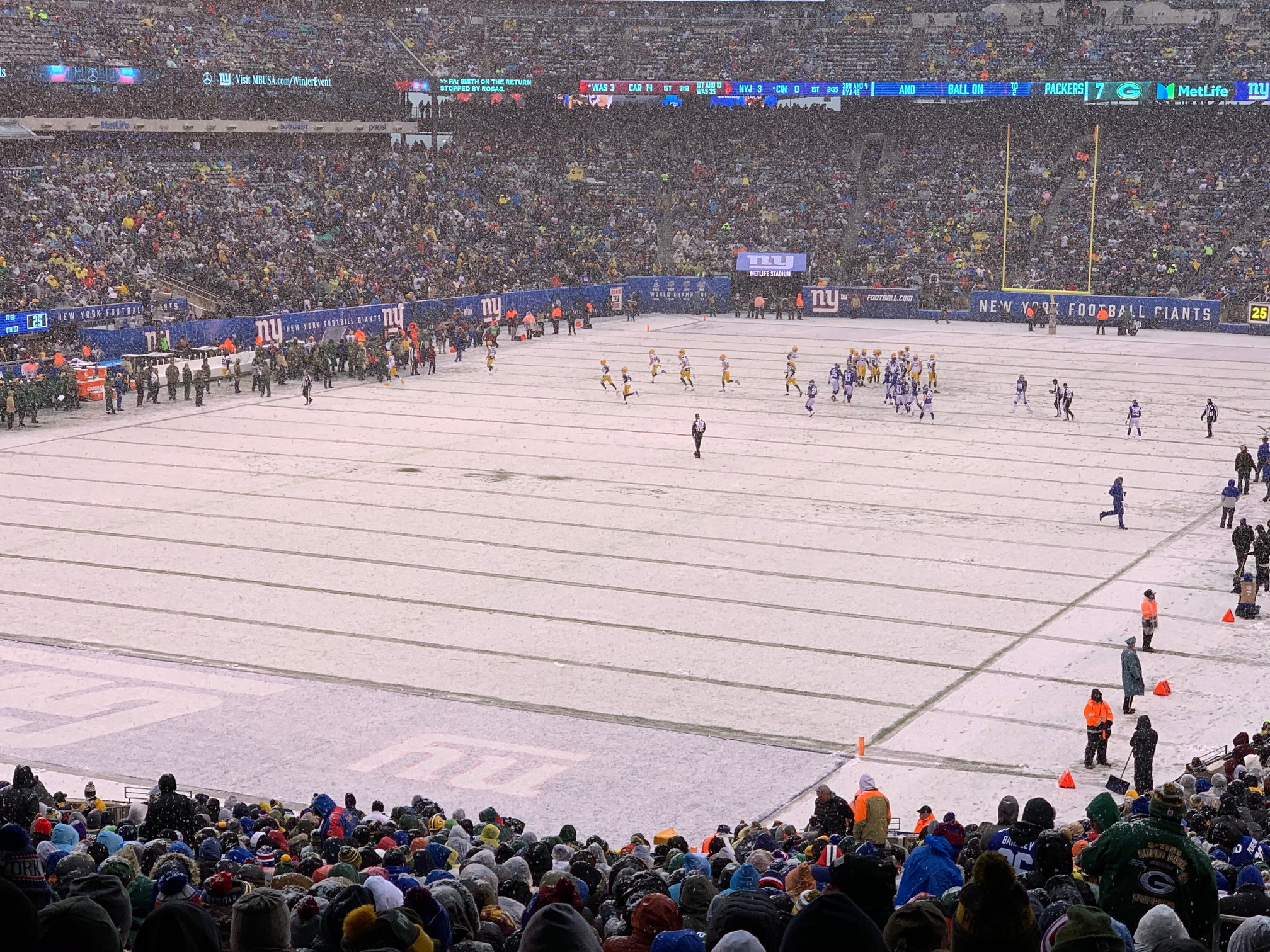 Giants vs. Packers, December 1, 2019